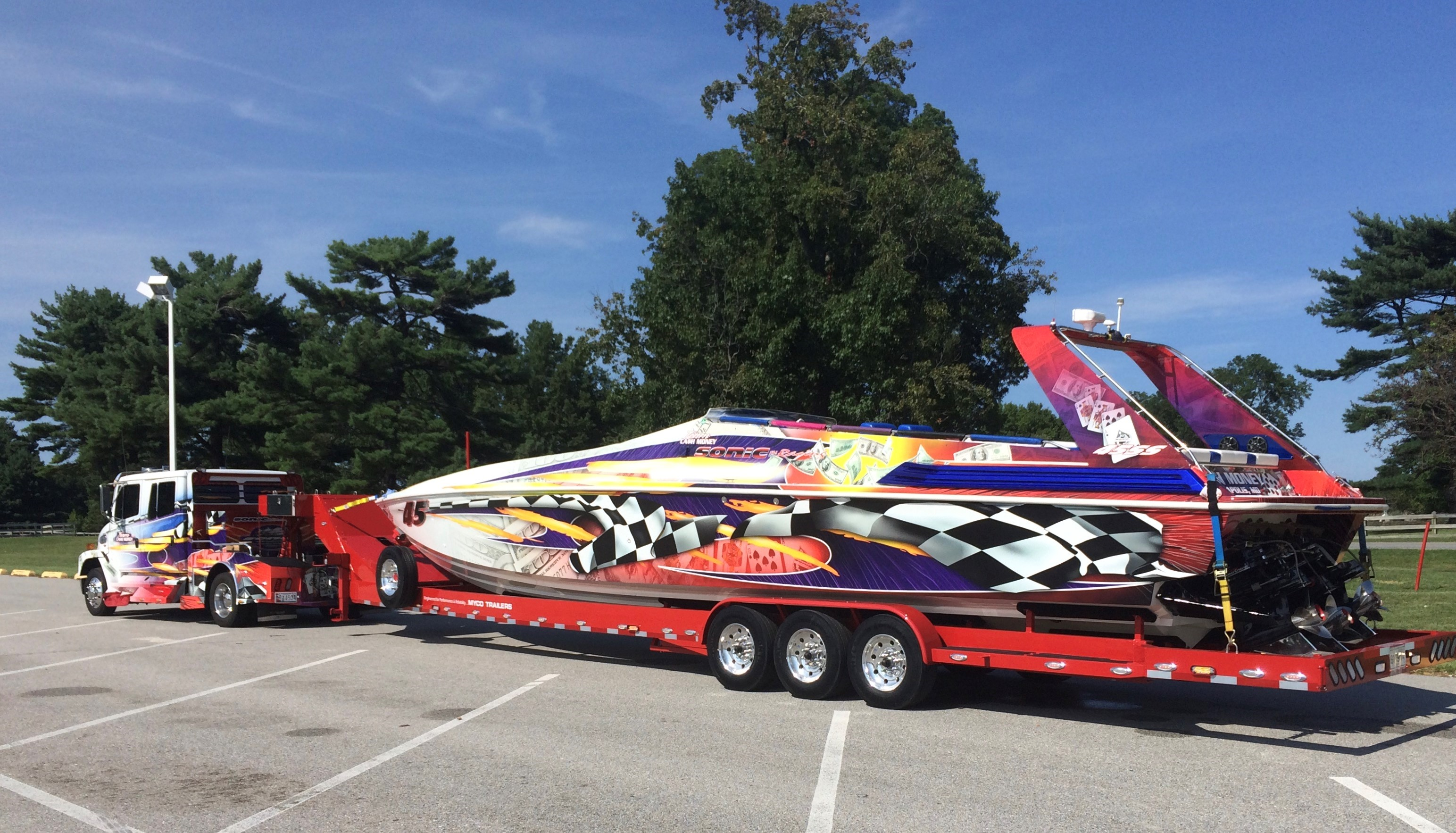 "Cash Money Motorsports, Annapolis, Md. - Gold Sponsor - 45' Sonic, ""CASH MONEY"""
