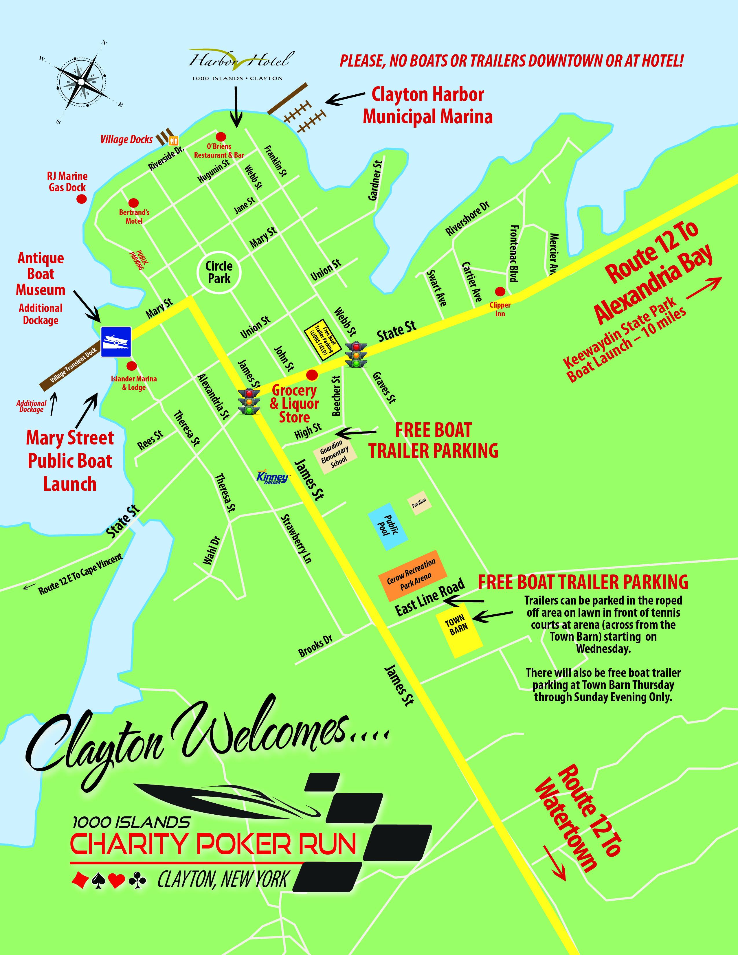 Village of Clayton Map